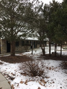 A view of the Janssen Conference Center in Winter